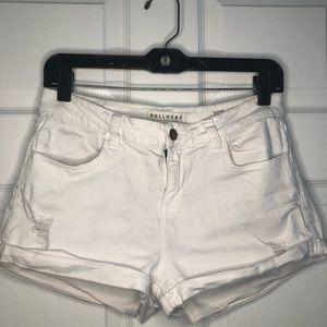 Bullhead White Denim Shorts